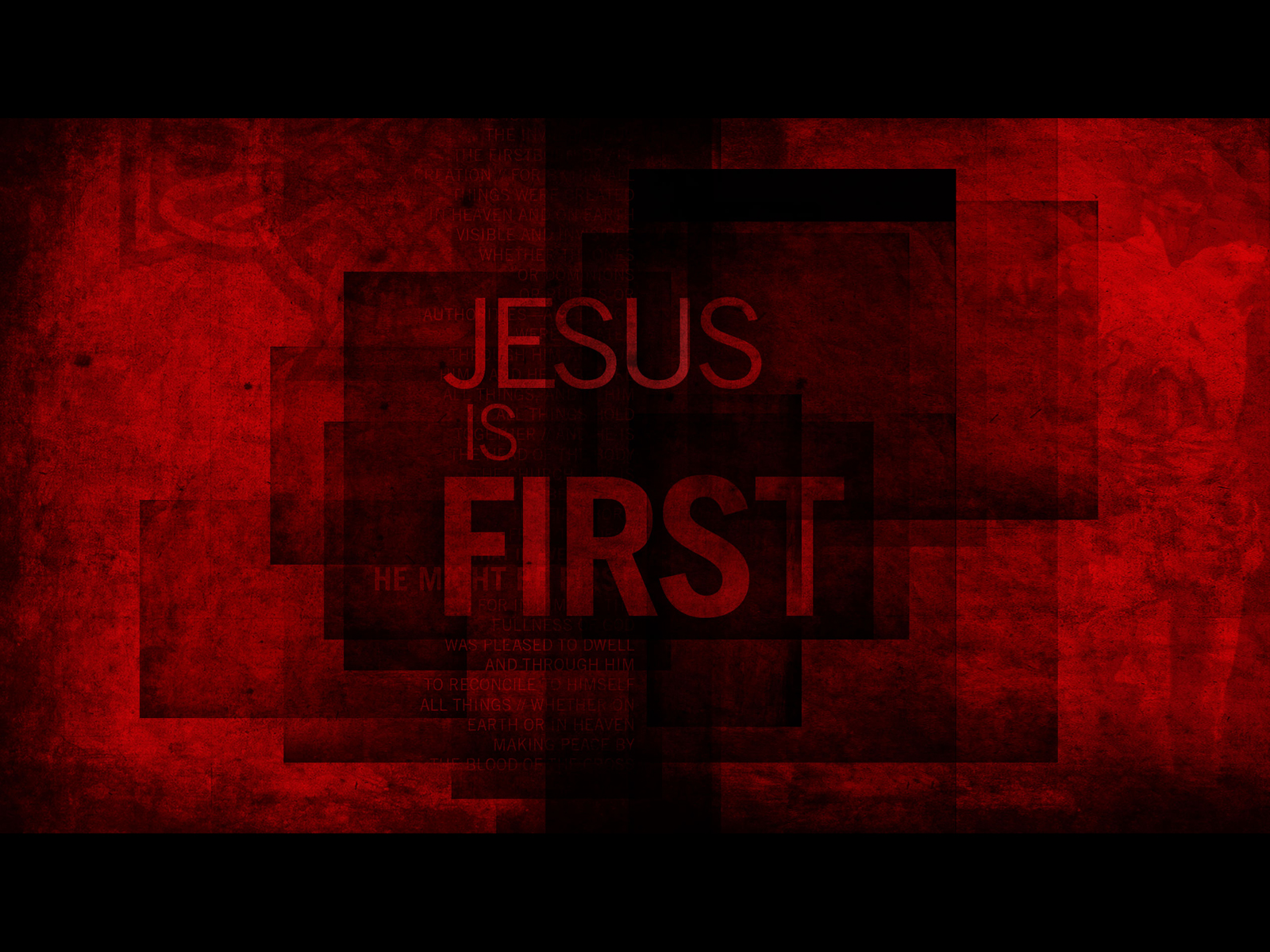 Jesus Is First