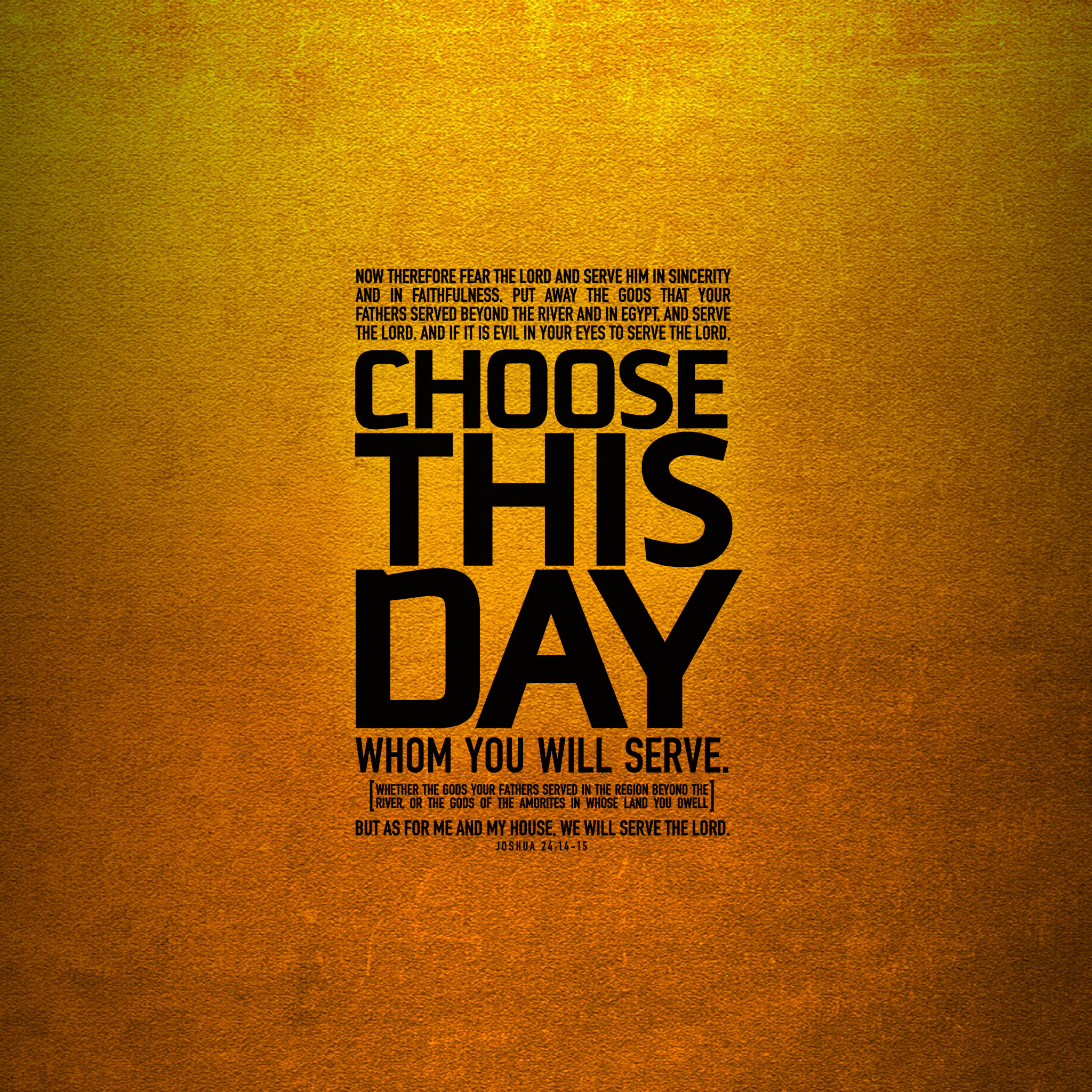 Choose This Day | Wallpaper #1 | Wawasee Bible