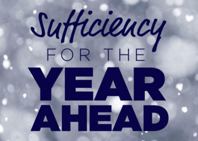 Sufficiency for the Year Ahead