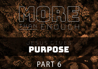 Part 6: Jesus Gives Purpose